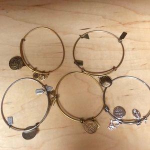 5 Alex and ani bracelets